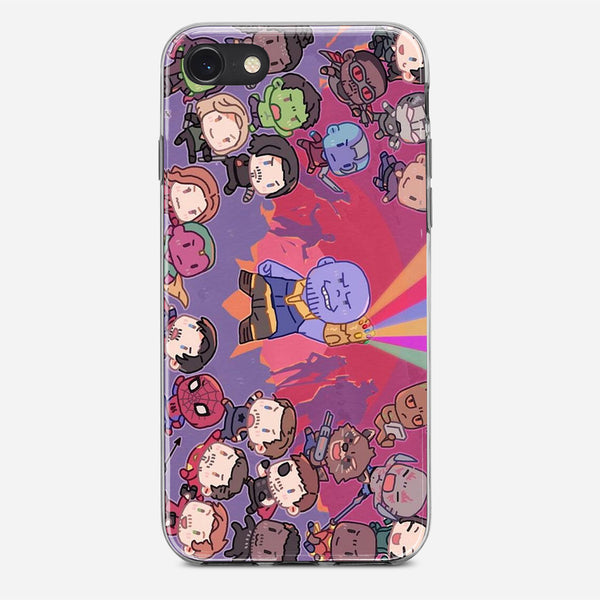 Cute Marvel Superhero iPhone X Case