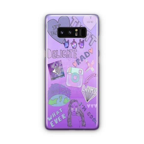 Cute Purple Samsung Galaxy Note 8 Case