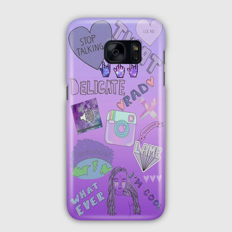 Cute Purple Samsung Galaxy S7 Case