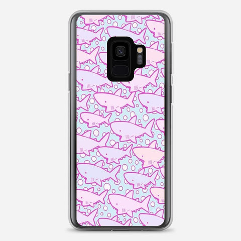 Cute Shark Pattern Samsung Galaxy S9 Case