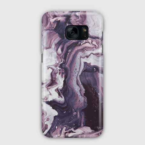 Dark Purple Marble Samsung Galaxy S7 Case