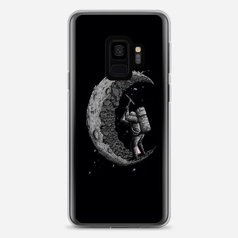 Digging the Moon Samsung Galaxy S9 Case