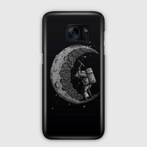 Digging the Moon Samsung Galaxy S7 Edge Case
