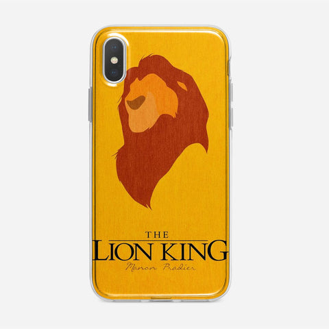 Disney Lion King Minimalist Poster iPhone XS Case