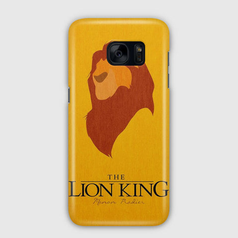 Disney Lion King Minimalist Poster Samsung Galaxy S7 Edge Case