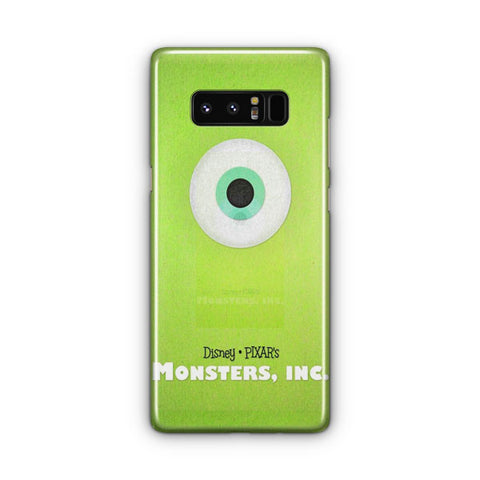 Disney Monsters Inc Poster Samsung Galaxy Note 8 Case