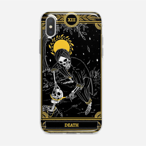Death Tarot Gold iPhone XS Max Case