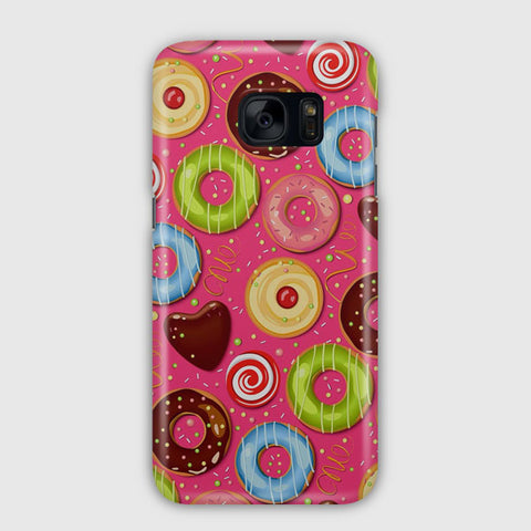 Donut Pattern Samsung Galaxy S7 Case