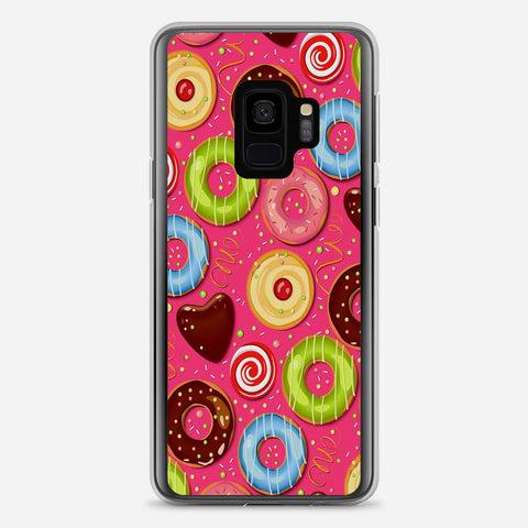 Donut Pattern Samsung Galaxy S9 Case