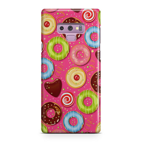 Donut Pattern Samsung Galaxy Note 9 Case