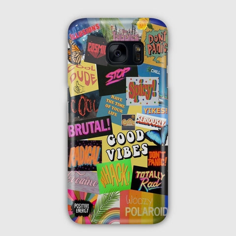 Aesthetic Good Vibes Samsung Galaxy S7 Case