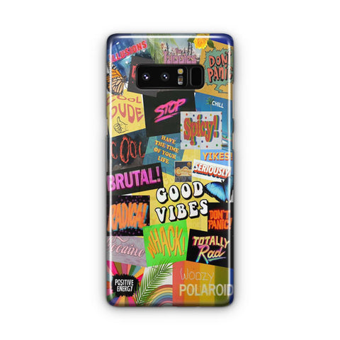 Aesthetic Good Vibes Samsung Galaxy Note 8 Case