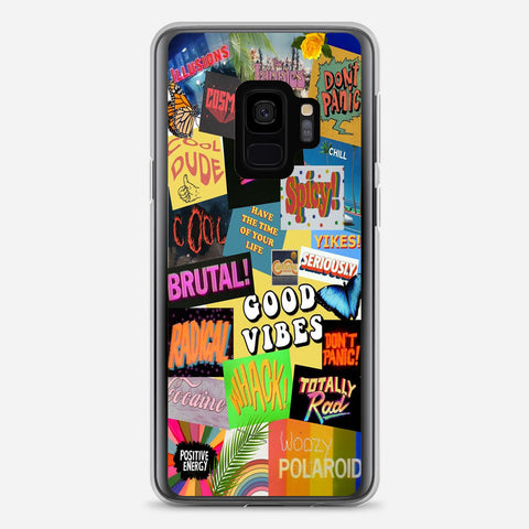 Aesthetic Good Vibes Samsung Galaxy S9 Case