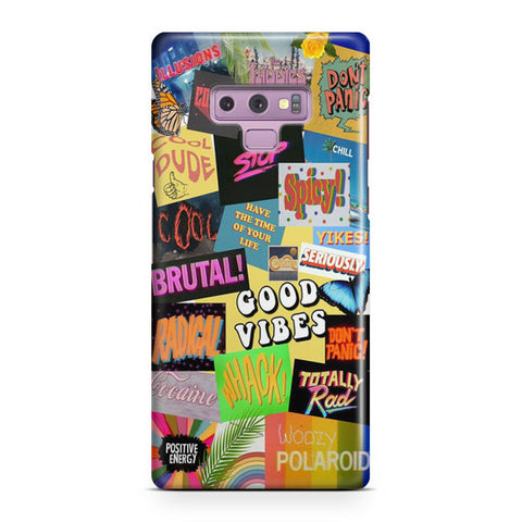 Aesthetic Good Vibes Samsung Galaxy Note 9 Case