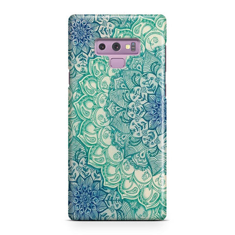 Emerald Mandala Pattern Samsung Galaxy Note 9 Case