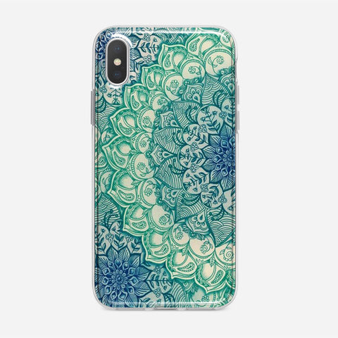Emerald Mandala Pattern iPhone XS Case