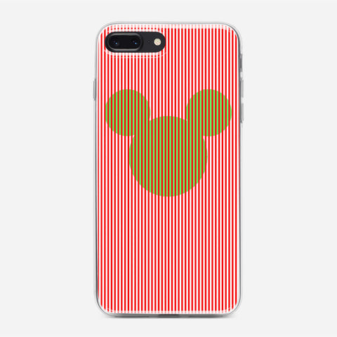 Disney Mickey Candy Cane Stripe iPhone 7 Plus Case