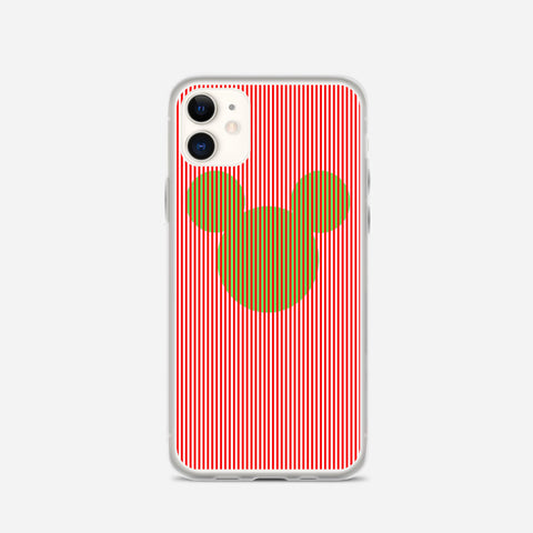 Disney Mickey Candy Cane Stripe iPhone 11 Case