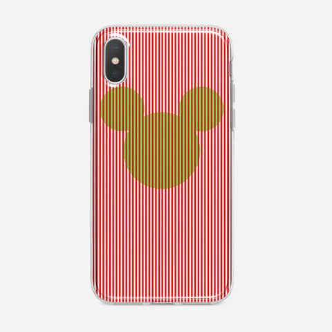 Disney Mickey Candy Cane Stripe iPhone XS Case