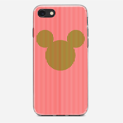 Disney Mickey Candy Cane Stripe iPhone 8 Case