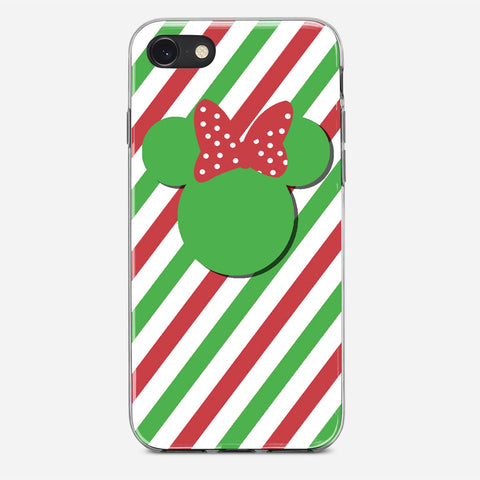 Disney Minnie Mouse Candy Stripe Christmas iPhone 8 Case