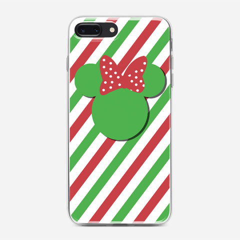 Disney Minnie Mouse Candy Stripe Christmas iPhone 7 Plus Case
