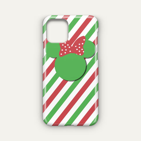 Disney Minnie Mouse Candy Stripe Christmas Google Pixel 4 XL Case