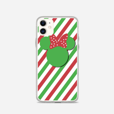 Disney Minnie Mouse Candy Stripe Christmas iPhone 11 Case