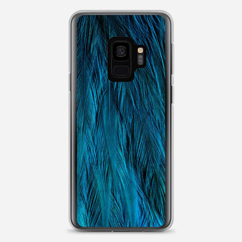 Feathers Beautiful Blue Samsung Galaxy S9 Case