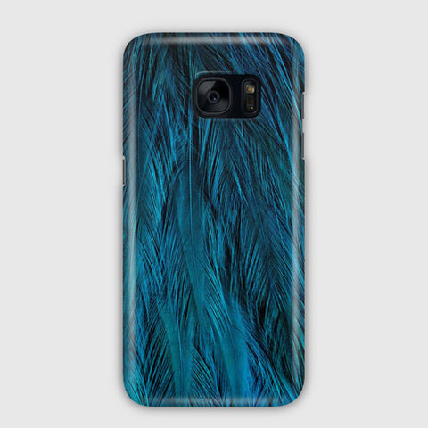 Feathers Beautiful Blue Samsung Galaxy S7 Edge Case