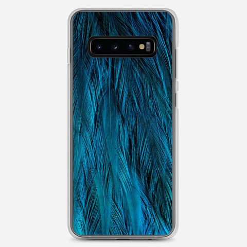 Feathers Beautiful Blue Samsung Galaxy S10 Plus Case