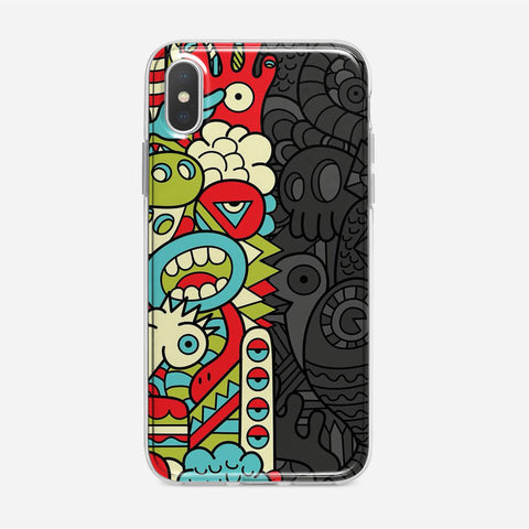 Doodle Monsters iPhone XS Max Case