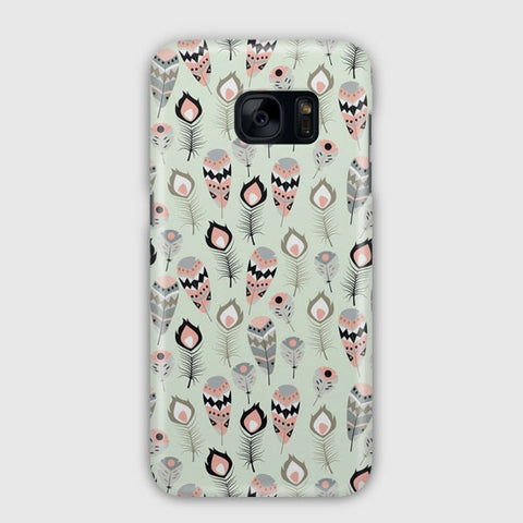 Feathers Pattern Samsung Galaxy S7 Edge Case