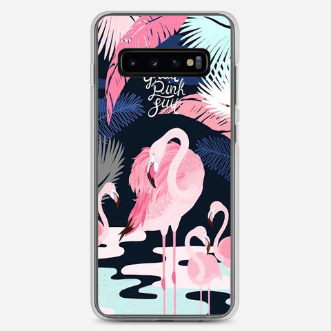 Flamingo Great Pink Suit Samsung Galaxy S10 Plus Case