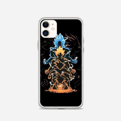 Dragon Ball Super Goku Saiyan Evolution iPhone 11 Case