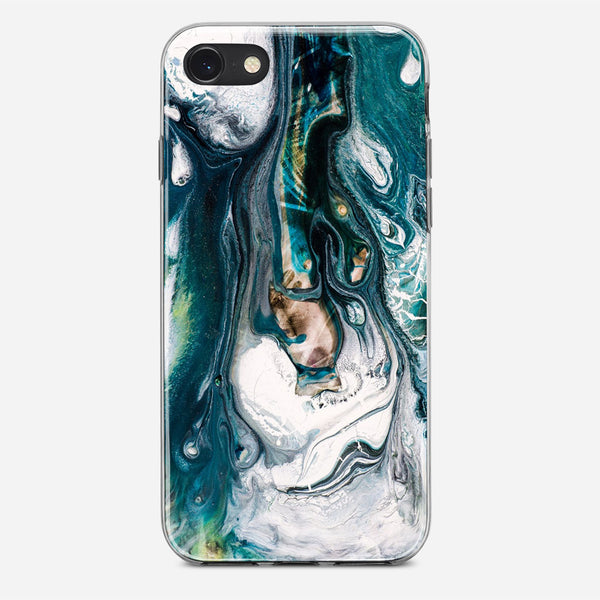 Fluid Blue Marble iPhone X Case