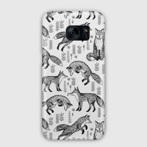 Fox Pattern Samsung Galaxy S7 Case