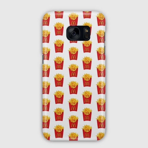 Fried Fries Pattern Samsung Galaxy S7 Edge Case