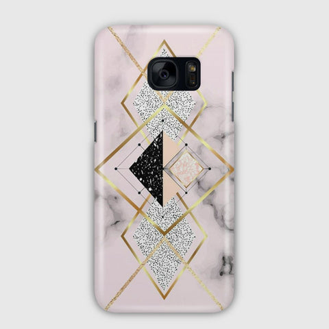 Geometric Marble Water Blue Samsung Galaxy S7 Case