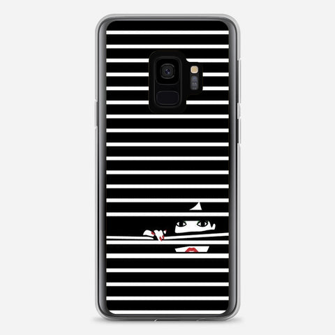Girl Behind The Blinds Samsung Galaxy S9 Case