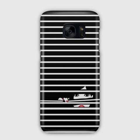 Girl Behind The Blinds Samsung Galaxy S7 Case