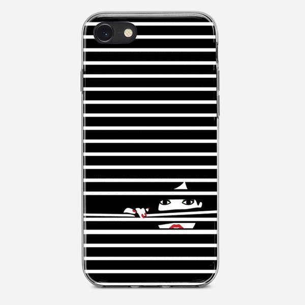 Girl Behind The Blinds iPhone X Case