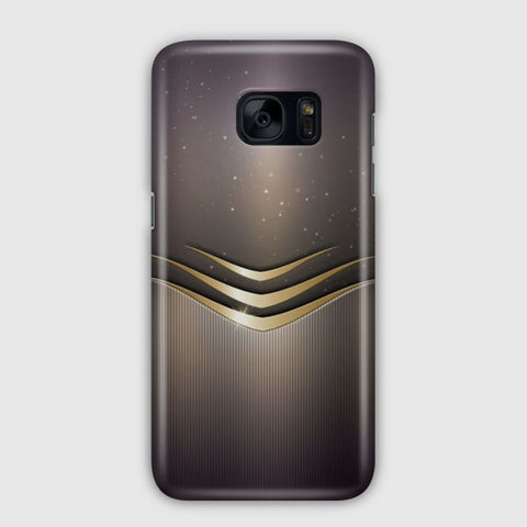 Gold And Gray Damask Samsung Galaxy S7 Edge Case