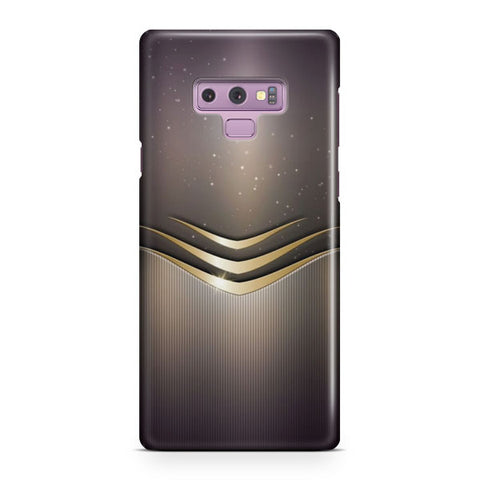 Gold And Gray Damask Samsung Galaxy Note 9 Case