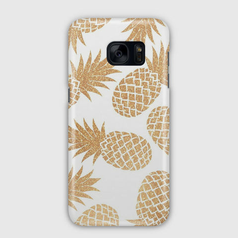 Gold Pineapple Pattern Samsung Galaxy S7 Case