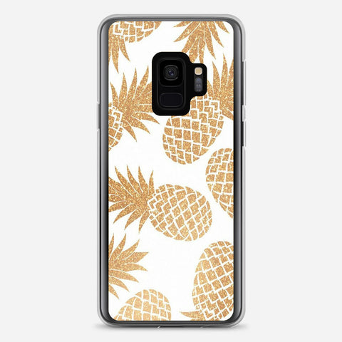 Gold Pineapple Pattern Samsung Galaxy S9 Case
