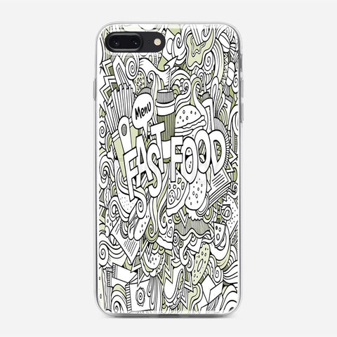 Fast Food Hand Lettering iPhone 7 Plus Case