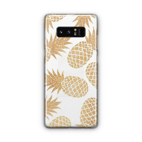 Gold Pineapple Pattern Samsung Galaxy Note 8 Case