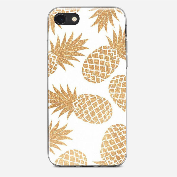 Gold Pineapple Pattern iPhone X Case