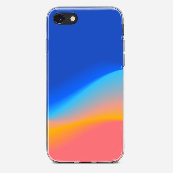 Gradient Blue Candy Blur iPhone X Case